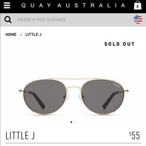 NWT Quay Little J in Gold & Smoke